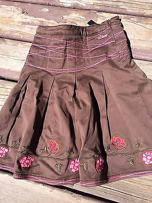 S. Oliver Designer Boutique Girls Skirt Size 134 10 Back to School Brown Autumn