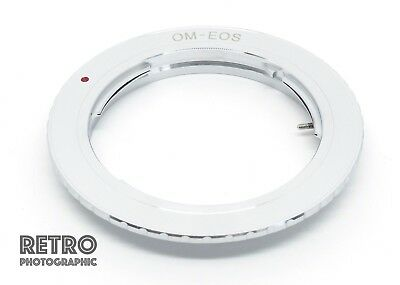 OM-EF Olympus OM Fit Lens to Canon EF EOS Mount Adapter Ring - UK Stock