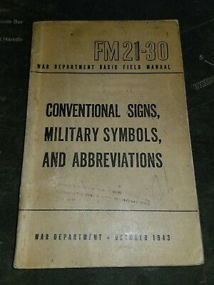 Wwii Us Army Fm 21 30 Conventional Signs Military Symbols And
