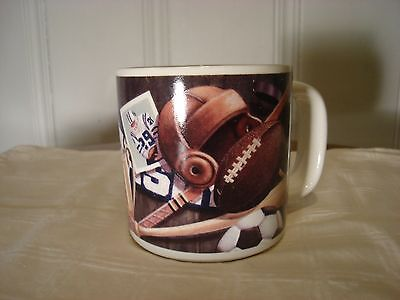 Early 20th Century Football & Sports Design Russ Berrie Large Coffee Cup  Mug