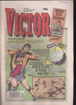 VICTOR Comic No.1547 October 13th 1990 FREE GIFT Battle Planes Of World War 2