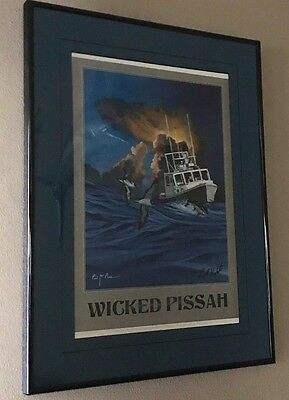 "Limited Supply ""Wicked Pissah"" ""Wicked Tuna"" Paul Hebert Autographed Color Print"