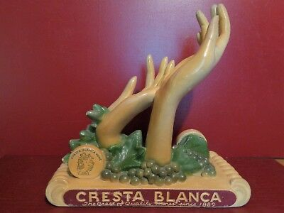 Rare Vintage Art Deco Cresta Blanca Co Winery Livermore Calf Wine Bottle Display