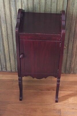 Vintage Tobacco Humidor Wood Stand 27 x 11 x 12 Copper Lined Carrying Handles