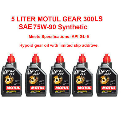 5 Liter(5.28 Qt) Motul Gear 300 Ls 75W 90 Synthetic Gear Oil Limited Slip