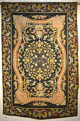 Tapis ancien rug Europeen European Français France Petit Point 1900