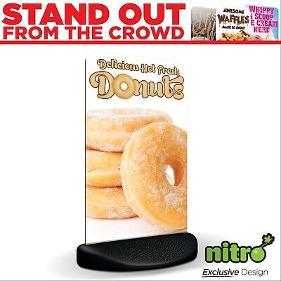 Fresh Doughnuts Here Eco Flex 2 Pavement A Board Sign ***PRINTED & DELIVERED***