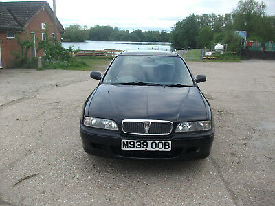1995 ROVER 600 HONDA ENGINED 2.0i - RAVEN BLACK WITH FULL YEARS MOT - 77K MILES!