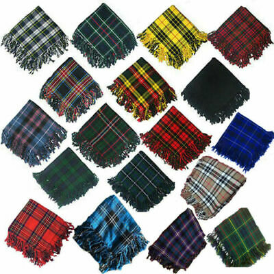 New Tartan Scottish Purled Fringe Budget Fly Plaid for Kilts in Range of Tartans
