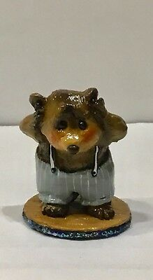 Wee Forest Folk Father's Night Small Bear.  <>  100 MADE <>  2005 STORE SPECIAL