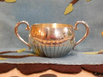 Oneida Silversmiths Post 1940s Silverplated Sugar / Creamer Server Dish - Used