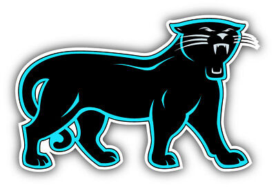 12/'/' or 14/'/' Carolina Panthers NFL Football Head Car Bumper Sticker 9/'/'