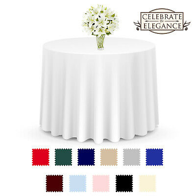 20 Pack Round Wedding Banquet Polyester Fabric Tablecloths More Sizes & Colors