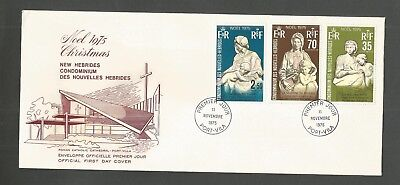 New Hebrides 1975 Fdc Christmas Sg,204-206 Lot 6914A