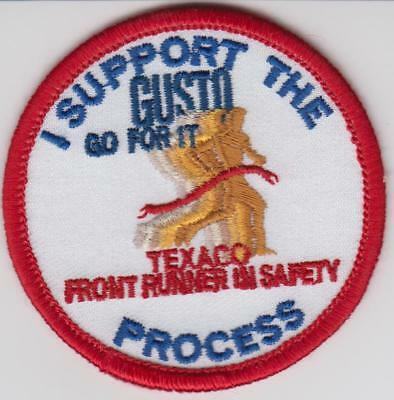 """Texaco Patch """"I Support The Gusto"""""""