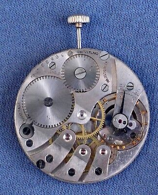 8s Majestic 15j Private Label Pocket Watch Movement, #565234 - c. 1920, OF