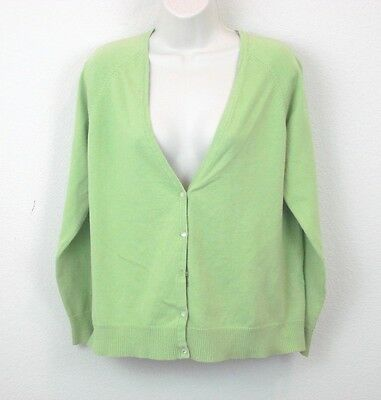 Announcements Women's Green Long Sleeve Maternity Cardigan Sweater L Large 12/14