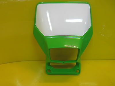 New Oem 89-94 Kawasaki Kdx 200/250 Front Plate Number Plate Headlight Cowl Cover