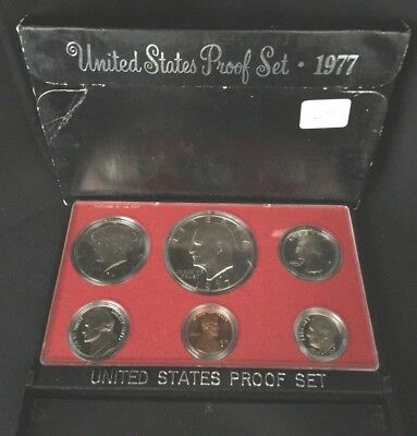 1977 S US Mint Proof Set 6 Coins in Original Government Packaging