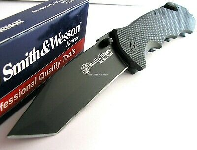 Smith & Wesson Border Guard Rescue Tanto LARGE Knife GlassBreak CLAM Pack SWBG6T