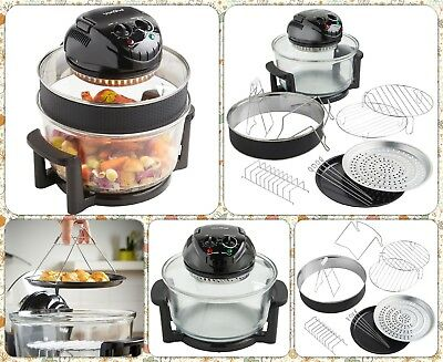 1400W Halogen Oven Convection Cooker & Extender Ring and Complete Accessories