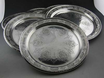 """6 Sterling TOWLE 6"""" Bread Plates LOUIS XIV no. 5435 ~ 18.39 troy ozs"""