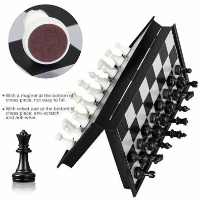 Foldable Magnetic Black White Chess Box Set Educational Board Contemporary Games