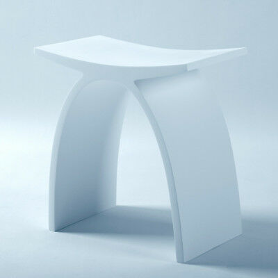 Bathroom Supplies NEW Shower Stool Stone White | Lucia 4 by Prodigg Bathrooms