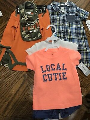Brand New With Tags Baby Boys Clothes Size 6-9 month - 7 pieces total