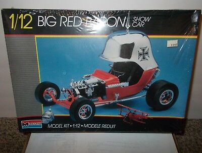 Very Rare Vintage Big Red Baron Show Car 1/12 scale Monogram - FACTORY SEALED