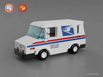 Custom Stickers Instructions To Build A Lego Mail Truck No
