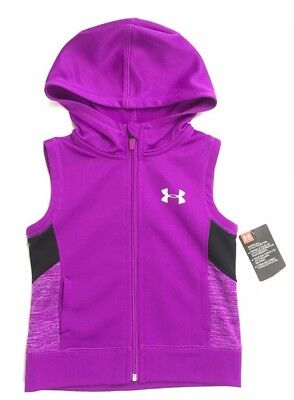 Under Armour Girls Vest 5 Purple Rave Hooded New