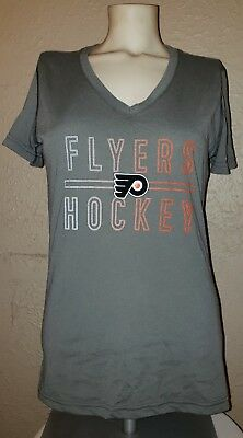 NEW adidas NHL Apparel Philadelphia Flyers Hockey Club Gray Shirt Womens (S)  NWT 42daf44de