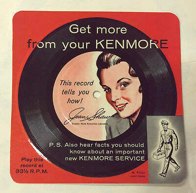 vintage Sears Kenmore Appliance Promotional Recording 1950s