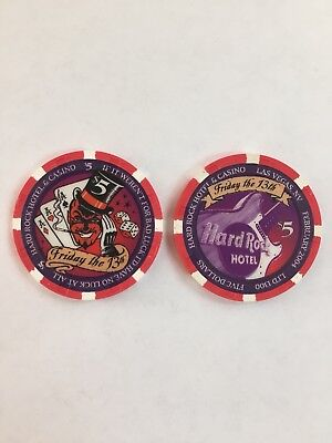 Hard Rock Las Vegas 2004 Friday the 13th $5 Casino Chip Mint/Uncirculated