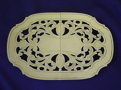 """Vintage Pierced Heavy Silver Plate Footed Adjustable Trivet Stand 12""""-15"""""""
