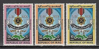 Iraq - Mail Yvert 1023/5 Mnh Day of the martyrs