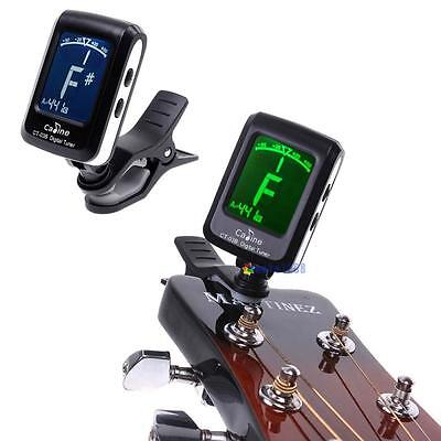 LCD Clip-on Electronic Digital Guitar Chromatic Bass Violin Ukulele Tuner GH