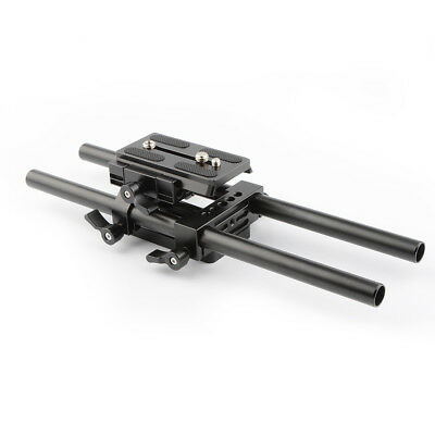 New CAMVATE Manfrotto Baseplate rig for DSLR camera shoulder Tripod Mounting rig
