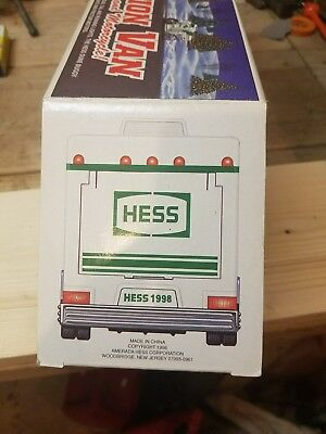 HESS 1998 Toy Recreational Van with Dune Buggy and Motorcycle  OPENED