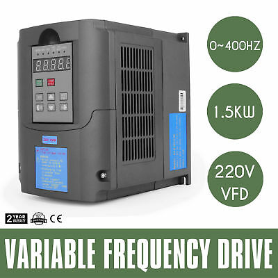 1.5Kw 2Hp 7A 220Vac Single Phase Variable Frequency Drive Inverter Vsd Vfd Us