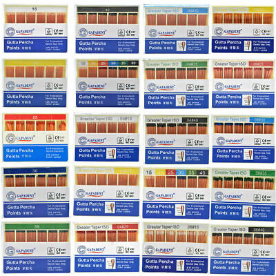 1XDental GAPADENT Gutta Percha Points 0.02 15-40# 120 Points Color Coded FDA CE