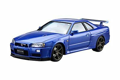 Aoshima 51597 The Model Car 08 NISSAN BNR34 Skyline GT-R V-spec II '02 1/24 FMT
