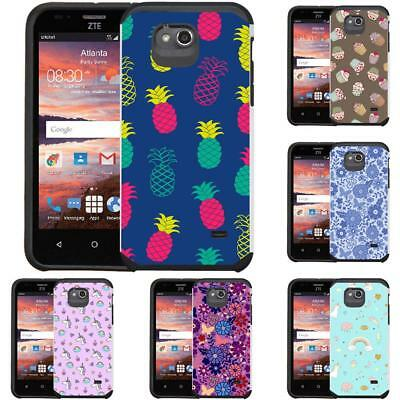 For ZTE Fanfare/Overture 2/Maven Z812 Pastel Color Case Cover Cupcake Unicorn