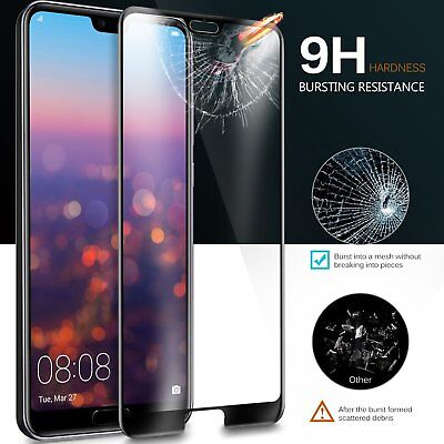 Full Coverage Tempered Glass Screen Protector For Huawei Nova 3e 3i P20 P30 Pro