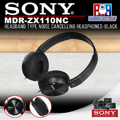 Sony MDR-ZX110NC Headband Type Noise Cancelling Headphones - Black