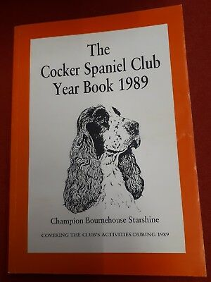 Cocker Spaniel Jagd Year Book 1989 ! DOG Breed Zucht Rasse Foxhound Hund Show