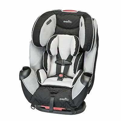 Evenflo Symphony LX All-in-One Convertible Car Seat, Crete Gray