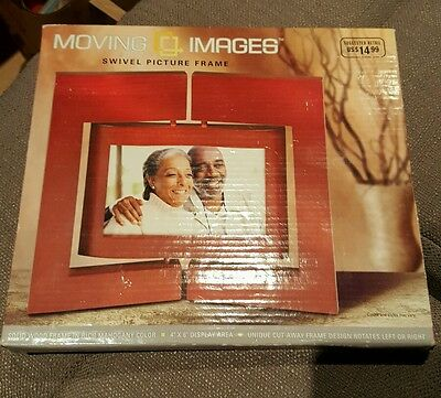 MOVING IMAGES SWIVEL PICTURE FRAME FOR 4x6 PHOTO NEW IN BOX! RETAILS FOR $14.99
