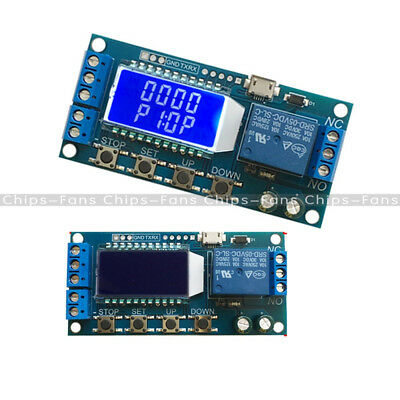 DC 5V Time Delay Relay Module Trigger Cycle Timming Circuit Switch Board USB LCD